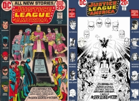 Justice League #100 - Steranko, Cardy, Sinnott, Romita, Perez, One Minute Later Comic Art